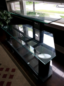 Glass TV stand 48 inches
