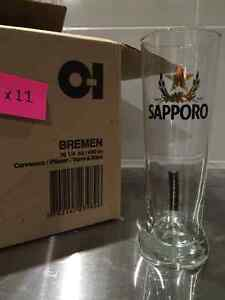 10 Sapporo Beer Glass
