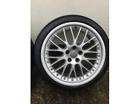 19 inch genuine Audi alloy wheels with Michelin tyres bbs speedline vw seat skoda