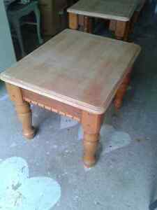 Coffee and end tables set   OAK wood  UNIQUE! Kitchener / Waterloo Kitchener Area image 3