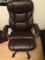 Brown Leather Chair 100 OBO