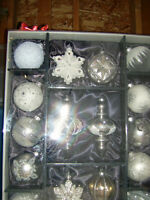 16 Hand Decorated Glass Christmas Tree Decorations