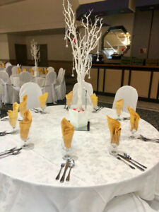 (RENT) Winter White MANZANITA TREES 4ft Wedding Sweet 16 Decor