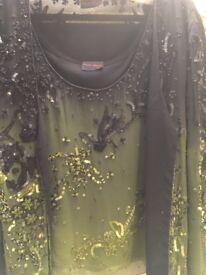 Sequin top and jacket , new size 14/16