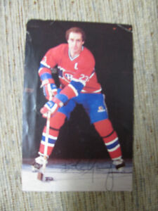 MONTREAL CANADIENS BOB GAINEY AUTOGRAPHED PROMO CARD