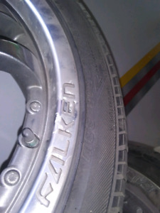 18's Falkens with rubber