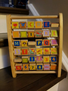 EDUCO by HAPE Wood Alphabet Abacus and Word Learning