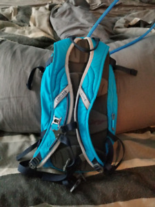Blue and pink Camelbak water pack