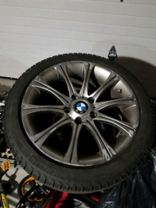 "17"" BMW Style 166 Reps Wheels with Michelin Winter Tires"