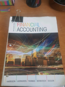 Financial Accounting 5th Canadian ed.