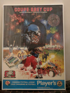 1988 CFL 76th Grey Cup in Ottawa Original Poster (Framed)