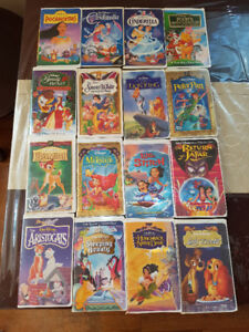 Over 120 Children's Disney and Classic VHS Tapes and Player