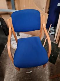 Beech framed office chairs