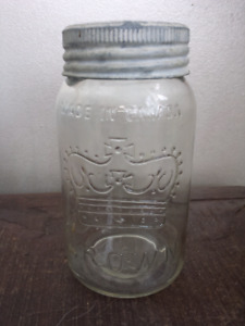 Vintage Crown mason jar