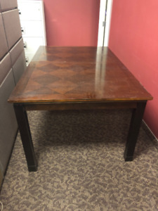 SOLID WOOD BROWN DINING TABLE WITH 8 CHAIRS - MUST GO ASAP!!