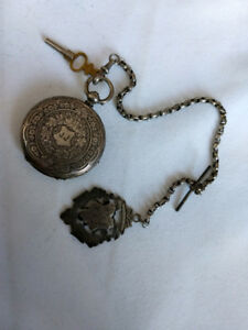 Andre Mathey Pocket Watch with original chain