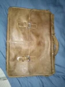 Leather Roots satchel