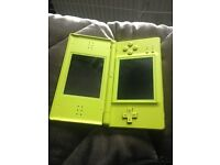 Nintendo DS lite green charger and case