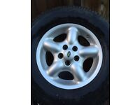 Set of Freelander 1 alloys and tyres 225/75/16