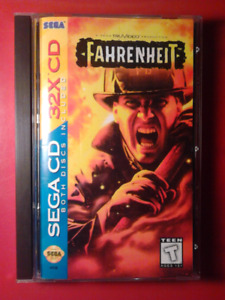SEGA CD FAHRENHEIT MINT COMPLETE WITH PHOAM PLAYED WORKS PERFECT