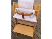 Stokke Tripp Trapp high chair *delivery possible* with baby set and cushions