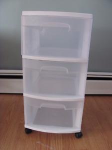 3 Drawer Plastic Storage Bin