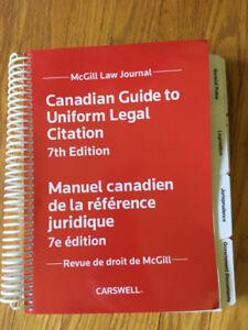 the canadian guide to uniform legal citation