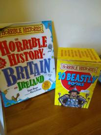 Horrible Histories 11 book bundle