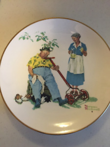 Rockwell 'Cool Aid' Plate with hanger