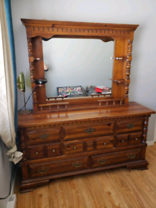 Solid wood dresser. Mirror not attached