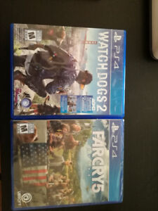 Far Cry 5 and Watch Dogs 2 - PS4
