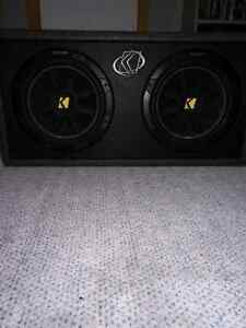 """KICKER COMP 2X 10"" SUBS WITH ALPINE AMPLIFIER"