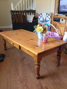 Solid Pine coffee & end table set