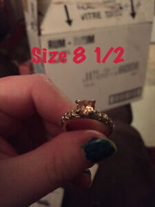 White gold filled ring size 8 to 8 1/2