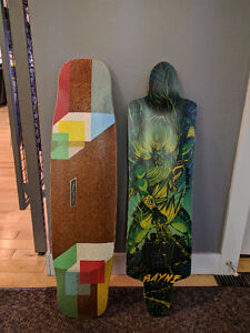 Longboard Decks and parts from Rayne, Loaded, etc.