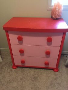 Pink IKEA kids dresser