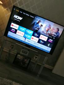 "JVC 50"" 4K HD smart TV with built in alexa"