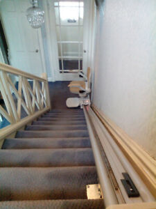 Acorn Superglide 130 Stair Lift and 12 step rail system