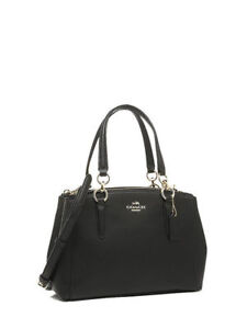 1157bcbca3b9 COACH F36704 Mini Christie Crossgrain Leather Carryall Satchel Bag - Black