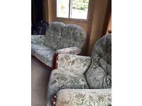 2 seater sofa + 2 armchairs
