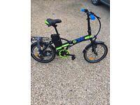 New electric fold up bike