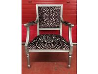Vintage Louis square back armchair
