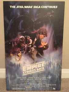 Star Wars Empire Strikes Back Original Movie Poster St. John's Newfoundland image 1