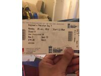 2 Cricket tickets