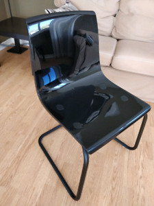 Ikea TOBIAS chairs, black on black, 7 available.