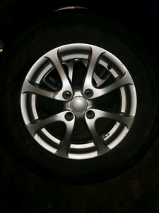 3 tsw rims and tires 185 75 14