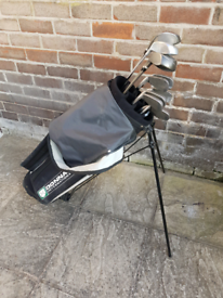 Golf clubs Wilson ProStaff OS with graphite shaft, bag included