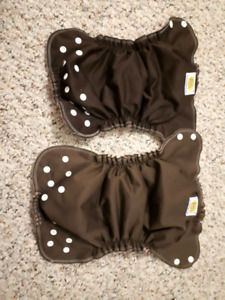Cloth diapers + wetbag, varying brands  & prices. Some brand new