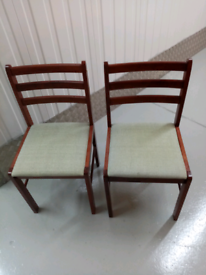 2x mahogany dining chairs