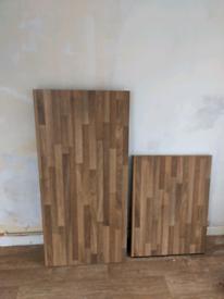 Wood style kitchen worktops